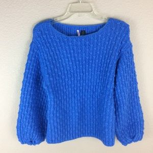 Love By Design Chunky Knit sweater Puffy Sleeves